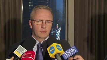 2018-09-26 Szczerski: w kuluarach sesji ONZ rozmowy o słowach Trumpa nt. Polski