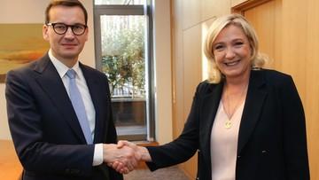 """Spotkanie premiera z Le Pen. """"Omówiliśmy niedopuszczalny szantaż"""""""
